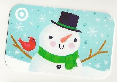 Target no value collectible gift card mint #38 Snowman