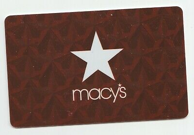 Macy's collectible gift card no value mint #10 White Star Red Background