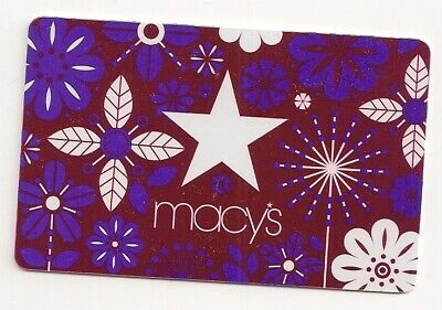 Macy's collectible gift card no value mint #08 Flowers