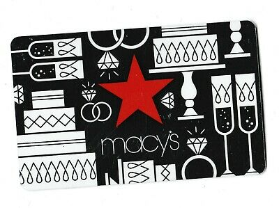 Macy's collectible gift card no value mint #53 Star on Silver Background