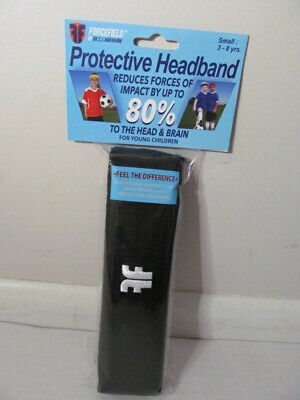 Forcefield Protective Headband Impact Reduction, Black, Small 3-8 years