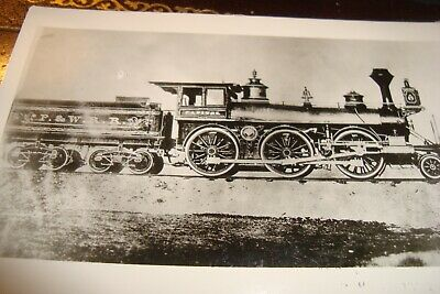 Vintage Rppc Providence & Worchester  Capitol  Engine