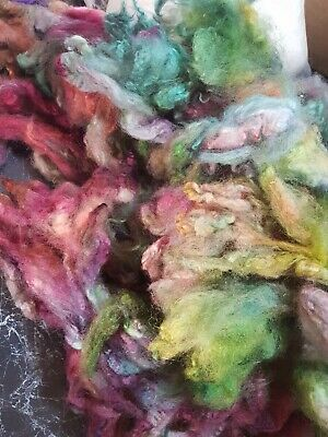 280gr Long Wool Perendale Dyed Mix Fleece Spinning Felting Crafts