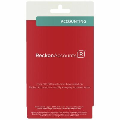 Reckon Accounting 12 Month Card