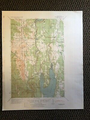 Vintage US Army Corps of Engineers Quilcene Washington 1940 Topographic Map