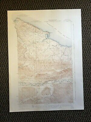 Vintage USGS Pysht Washington 1922 Topographic Map 1943