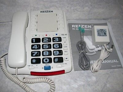 Reizen RE-40 Amplified Telephone/Speakerphone for Mild to Moderate Hearing Loss