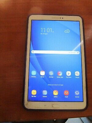 Samsung Galaxy Tab A SM-T580 16GB, Wi-Fi, 10.1in - White Tablet with cover