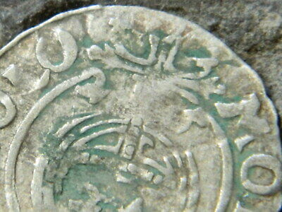 Rare 1625 Ancient Silver Pirate Shipwreck Era Old European Antique Coin w/ Cross