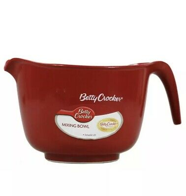 BETTY CROCKER MIXING BOWL WITH HANDLE | Baking Cake Cupcake Icing Mix Gravy