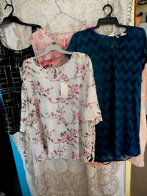 Bulk Lot 8  New Tops Mixed Sizes 14 To 24 Summer Tops