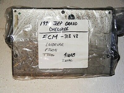 97 JEEP GRAND Cherokee 5 2 V8 Ecm Ecu Pcm Engine Computer