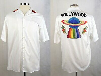 100% Authentic GUCCI Hollywood UFO Button Down Bowling Shirt 50 / 40 / M NEW