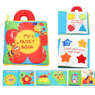 Baby Kids Intelligence Development Toys Cloth Bed Cognize Books Educational Toys