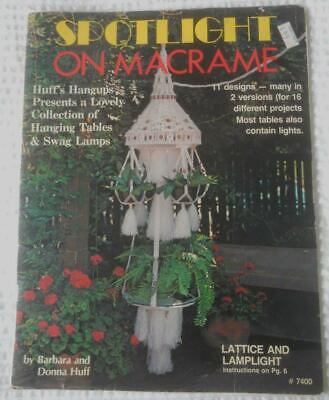 Vintage 1980 Pattern Book Spotlight On Macrame Hanging Tables Swag Lamps