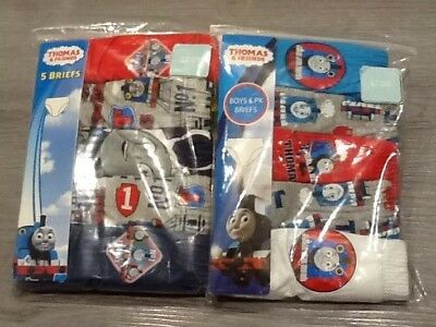 2 Packs Of 5 Thomas The Tank Engine Baby Boys Briefs Age 18 -24 Months New