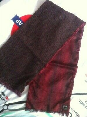 "DUGGIE SCARF WOOLY RED/BLUE 45 x 10"" VINTAGE 60s/70s MOD SCOOTER WELLER DAPPER"