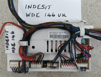Indesit Washer Dryer Iwde146 Main Pcb Programmer Controler With Full Loom