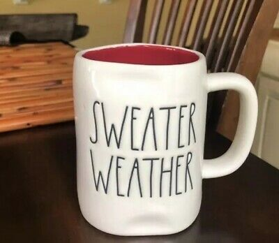 Rae dunn sweater weather ceramic mug limited edition *FREE SHIPPING*