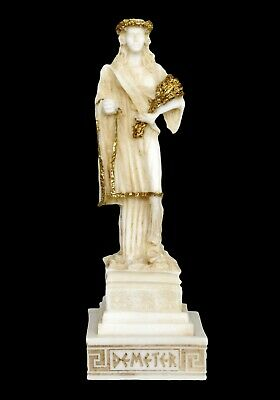 Demeter Alabaster aged small statue - Greek Goddess of Agriculture and Harvest