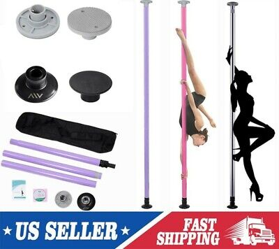 Portable Dance Pole Solid Stainless Steel Fitness Dancing Spinning Static SLIVER