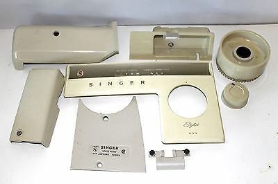 Singer Stylist 533 Sewing Machine Nose Cover Face Plate Most Covers Hand Wheel +