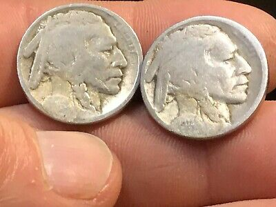 1913 Type 2 & 1914 Buffalo Nickels, Restored Dates, 2 For 1 Price