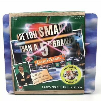 Are You Smarter Than a 5TH Grader Card Game with Tin Lunchbox - Factory-sealed!