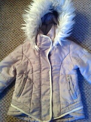 Next girls beige padded coat age 3 years