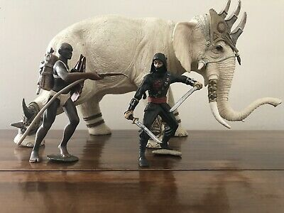 Schleich Mighty Fighter Elephant Toy Large Original Limes 69 D-73527 +2 Warriors