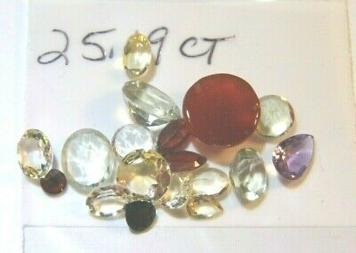 25.19Ct Parcel Natural Faceted Gems Mixed Sizes and Shapes