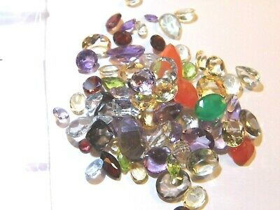 100.03Ct Parcel Natural Faceted Gems Mixed Sizes and Shapes as shown