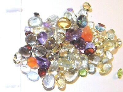100.20Ct Parcel Natural Faceted Gems Mixed Sizes and Shapes as shown