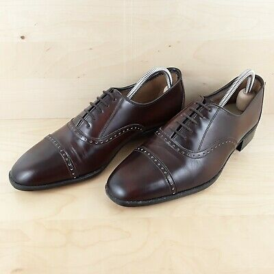 Vintage St Michael Mens Brown Leather Brogues Lace Up Shoes Uk Made Size Uk 9