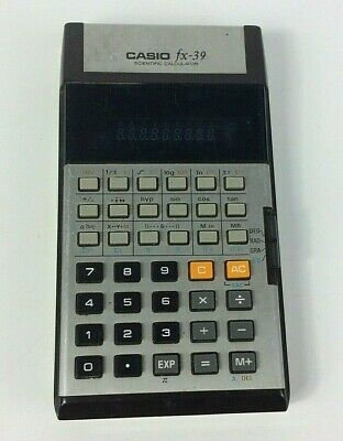 Casio Scientific Calculator FX-39 1970'S - Vintage / Retro