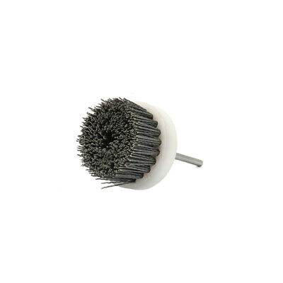 "70mm Abrasive Wire Brush Polishing Nylon Cup for Rotary Tool 1/4"" Shank 180#"
