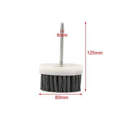 "3"" Abrasive Wire Brush Polishing Nylon Cup for Wood Rotary Tool 1/4"" Shank 180#"
