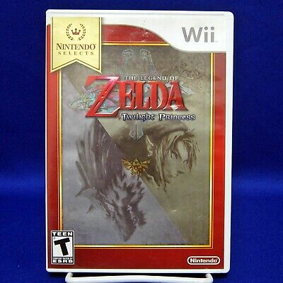 Wii The Legend Of Zelda Twilight Princess Nintendo Selects Complete & Tested