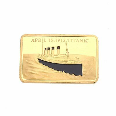 Tragedy Of The Titanic 1oz Gold Layered Oblong Commemorative Coin FREE GIFT BAG