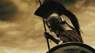 300 Spartan Helmet King Leonidas Movie Replica Helmet Medieval Free Wooden Stand