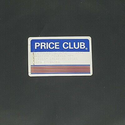 PRICE CLUB MEMBERSHIP CARD , EXPIRED  VINTAGE 1980's COLLECTIBLE