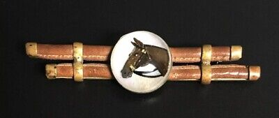 Man O'war, Old Antique Horse 3D Bubble Pin, Very Nice. See Pics