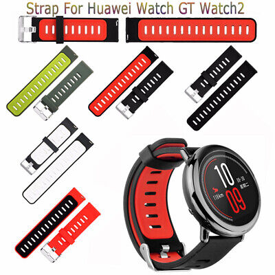 Replacement Buckle Bracelet HuaWei Silicone Watch Band Classic 22mm Strap