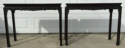A Pair of Zitan Chinese Tables 小葉紫檀