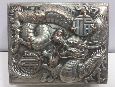 Antique Silvered Chinese Box