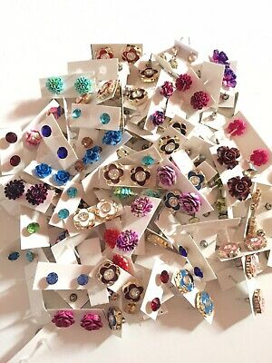 50 Pairs Of Studs Earrings Wholesale Lot FAST SHIPPING