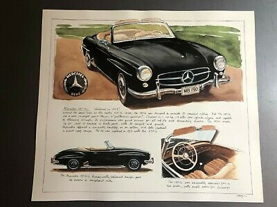 Mercedes-Benz 190 SL Roadster Picture, Print, Poster RARE!! Awesome Awesome L@@K