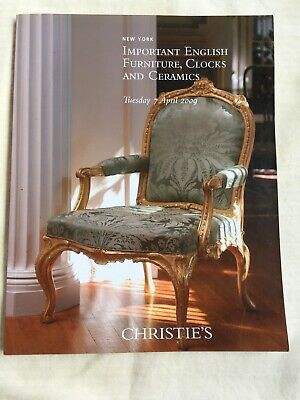 Christie's Important English Furniture, Clocks and Cersmics
