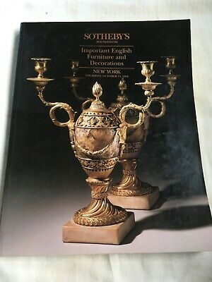 Sothebys Important English Furniture and Decorations