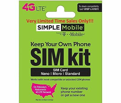 Simple Mobile Prepaid SIMCard + $40 Plan X 2 Month with 15GB Data at LTE